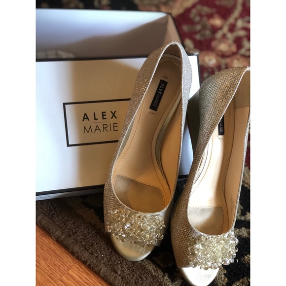 09954a0521f Alex Marie Allanah Beaded Accent Wedges